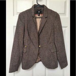 H&M Herringbone Blazer Jacket